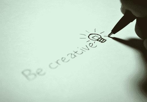 Be creative written in pen